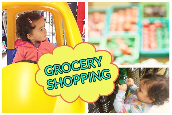 crianza bilingue grocery shopping