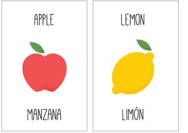 Flashcards En Inglés Para Imprimir Crianza Bilingüe Mamá
