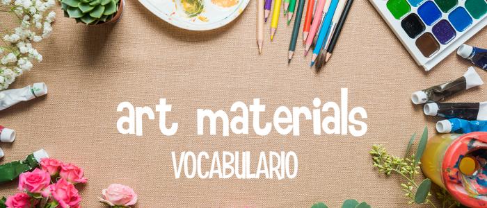 VOCABULARIO INGLES ARTE DIBUJO